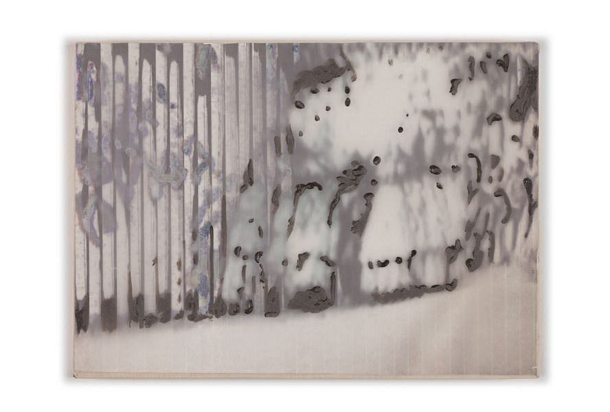 Marina Perez Simao. Untitled     2013  acrylic on plastic, plyester and printing on reflexive paper  29,5 x 41,5 cm