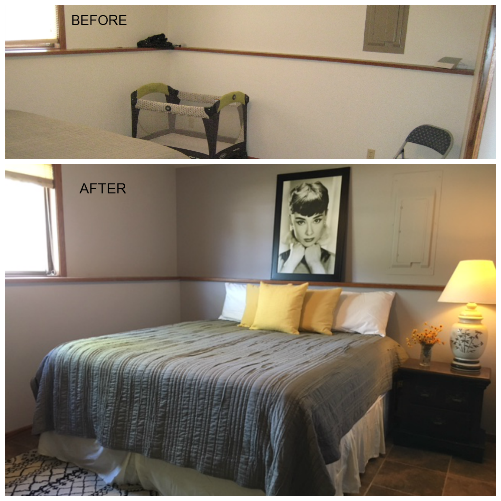 Before And After: Bedroom Was Rearranged, For A Better