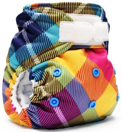 """Rumparooz One-size Cloth Diapers. """"Preppy"""" pattern, hook and loop closure $23.50"""