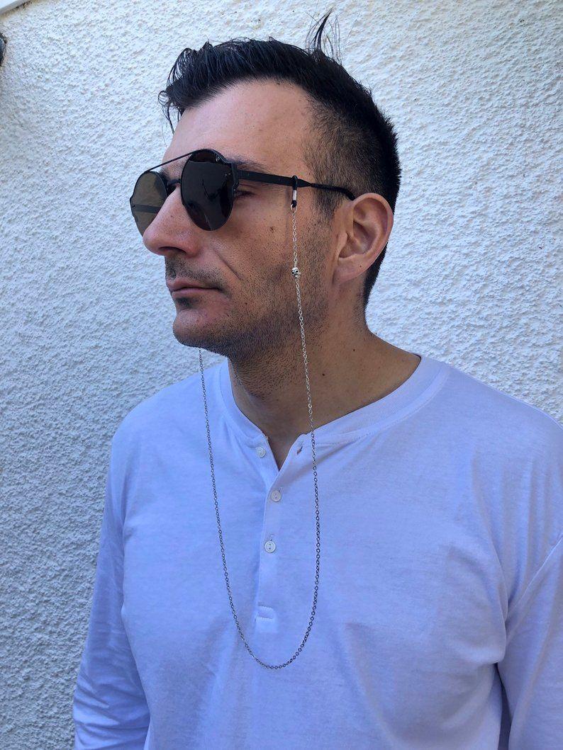 Mens Eyeglasses Chain Silver Glasses Chain Men Sunglasses | Etsy | Glasses  chain, Eyeglass chain, Men's eyeglasses