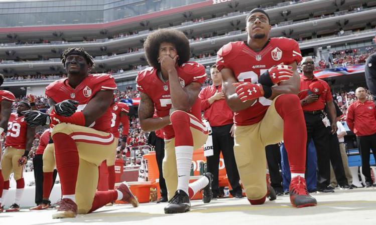 Colin Kaepernick Second Left Led The 49ers To A Super Bowl Appearance Photograph Marcio Jose Sanchez Ap Kaepernick Colin Kaepernick Anthem Protest