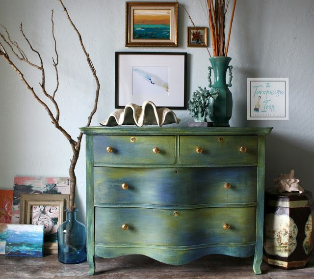 turquoise painted furniture ideas. Brilliant Painted The Turquoise Iris  Vintage Modern Hand Painted Furniture With Ideas T