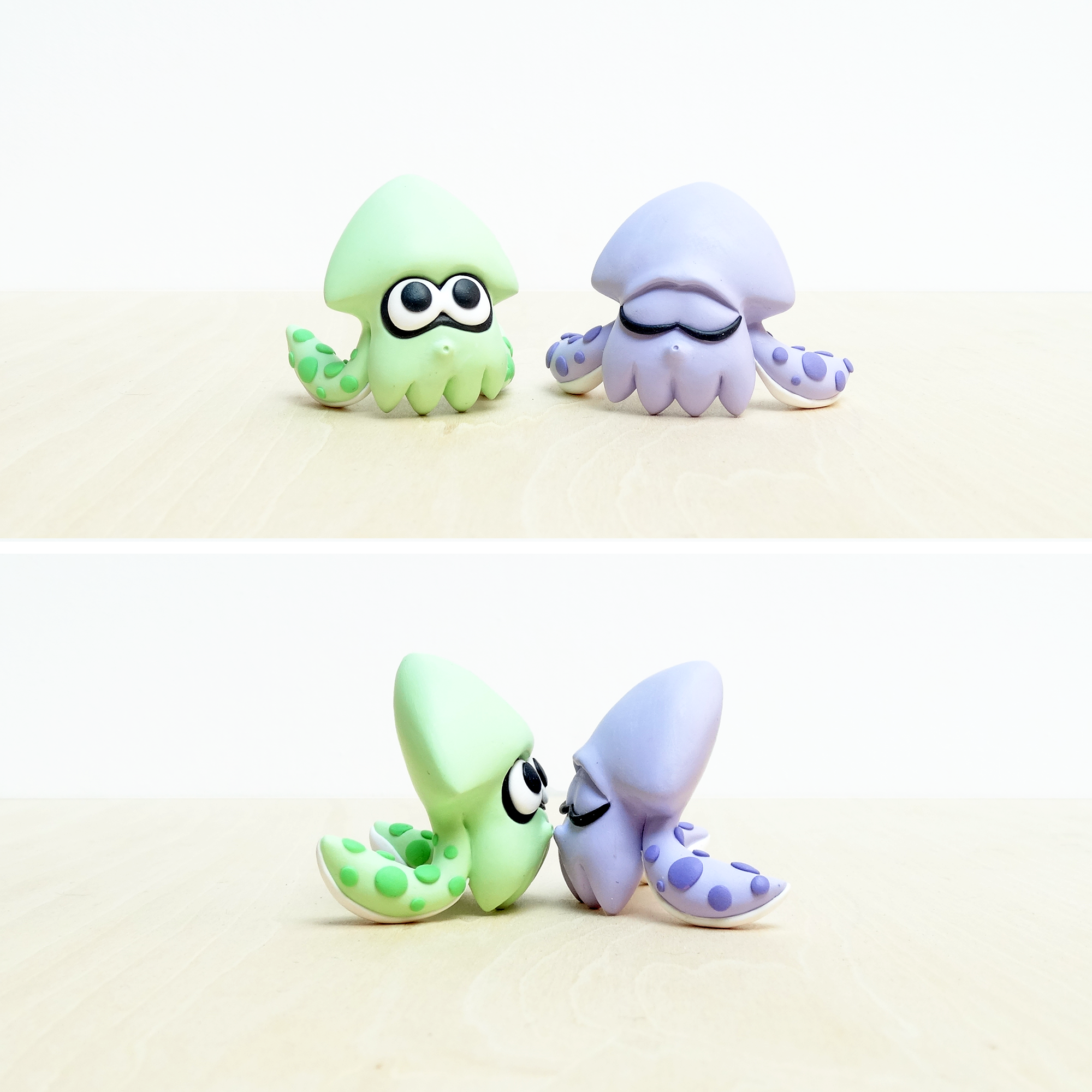 Splatoon Squid Commission Handmade Polymer Clay Polymer Clay Figures Handmade Polymer Clay Polymer Clay Crafts