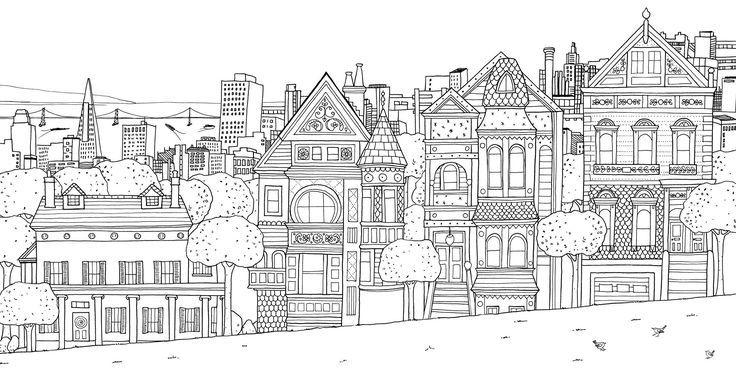 發現寧靜小宇宙 5本必買療癒系填色書 Fantastic Cities Coloring