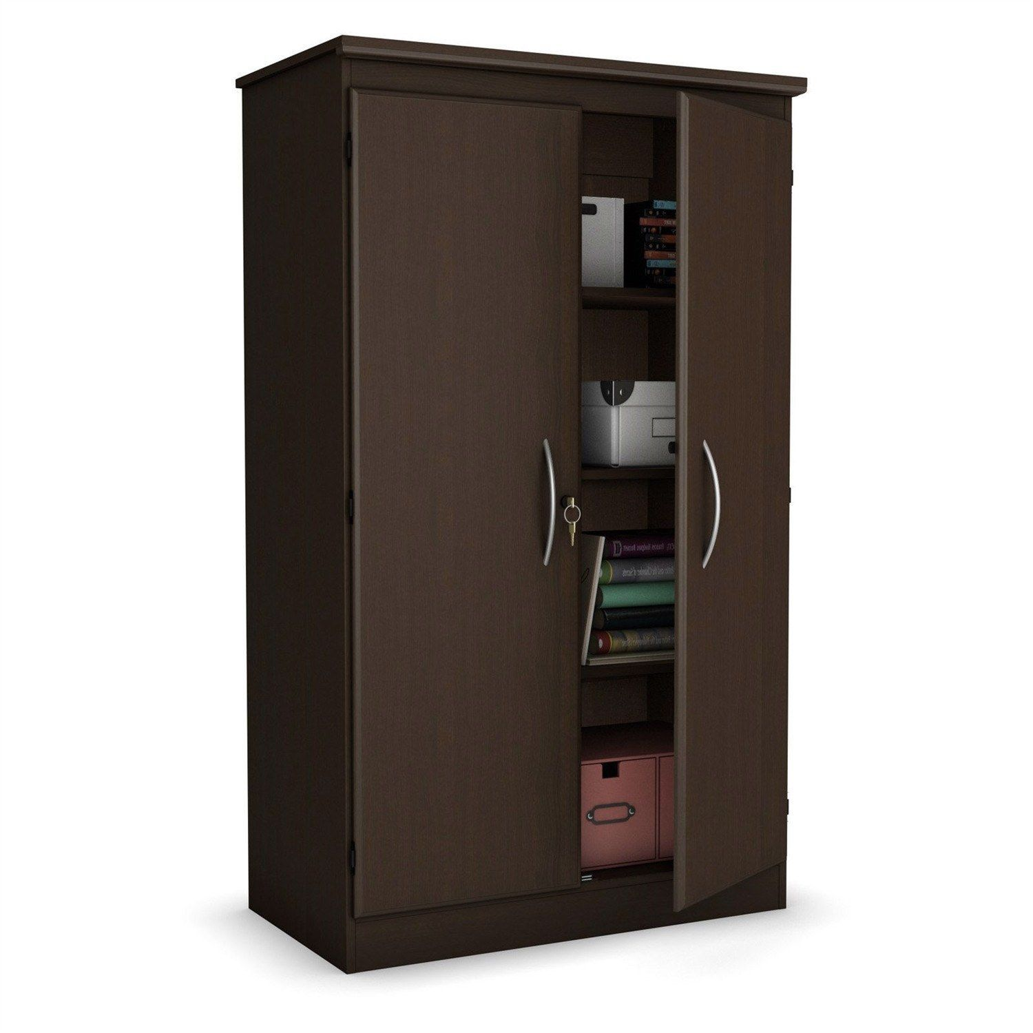 5 Ft Storage Cabinet Wardrobe Armoire for Bedroom fice or Garage