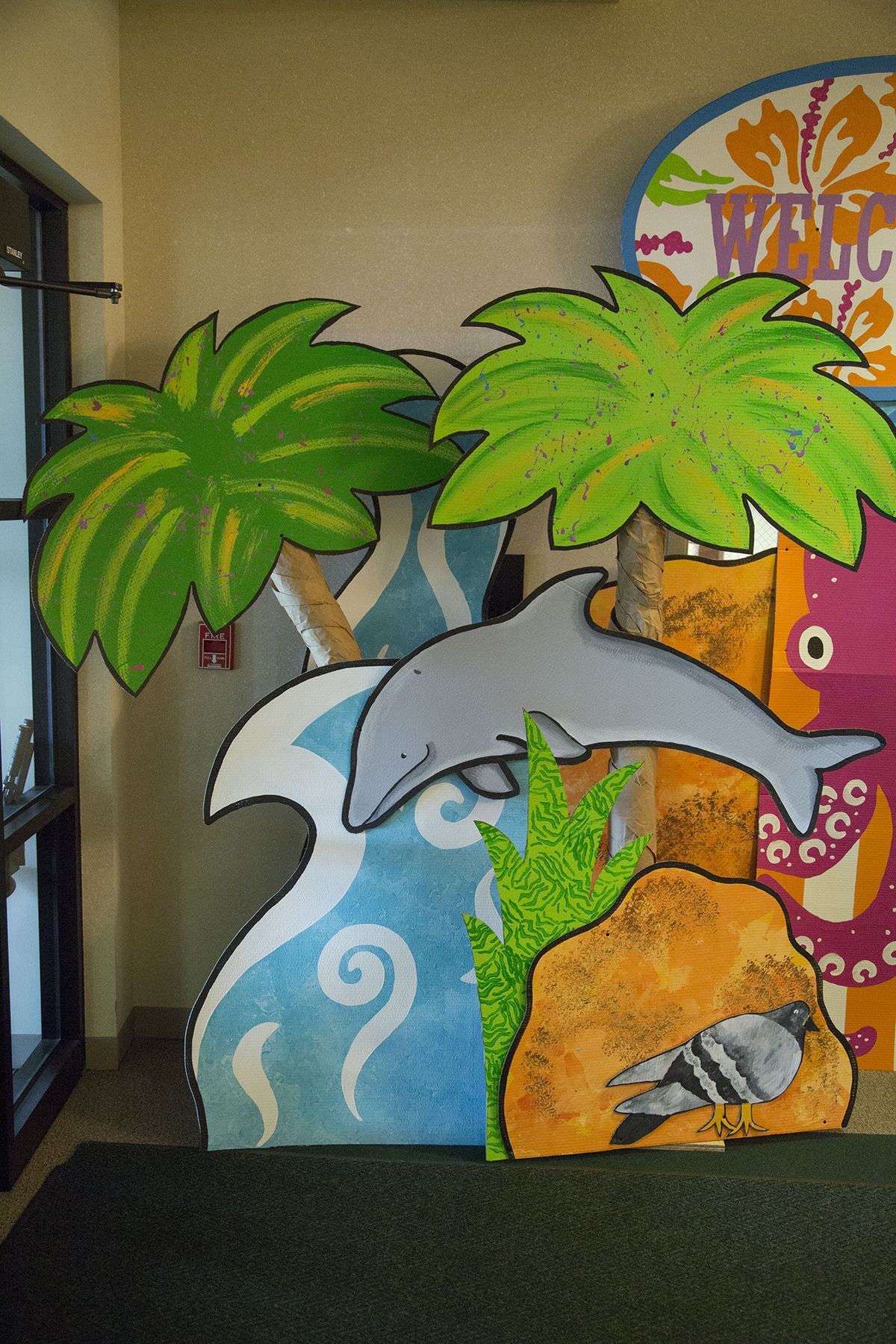 Ocean Commotion decoration ideas for water-themed VBS #vbs2016