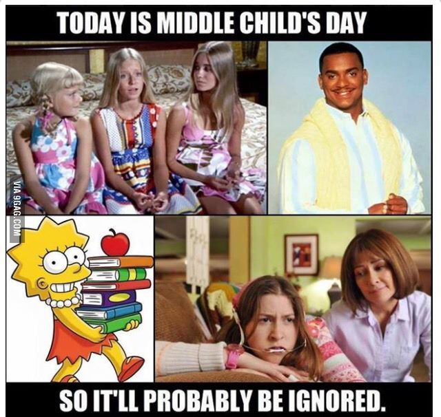 Sad but incredibly true... Happy Middle Child's Day from a fellow middle child #middlechildhumor