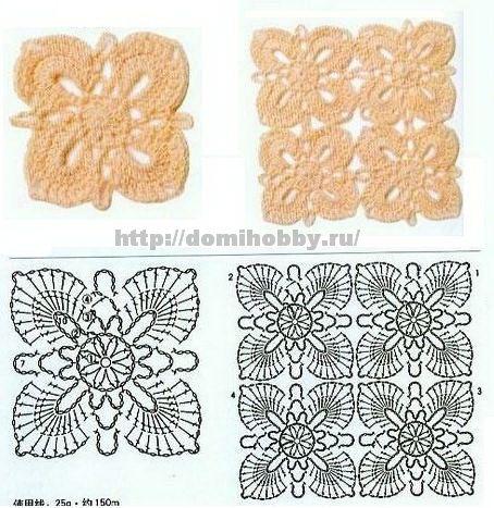 17 Square Crochet Motif Diagrams Layouts Domihobby Ru Crochet
