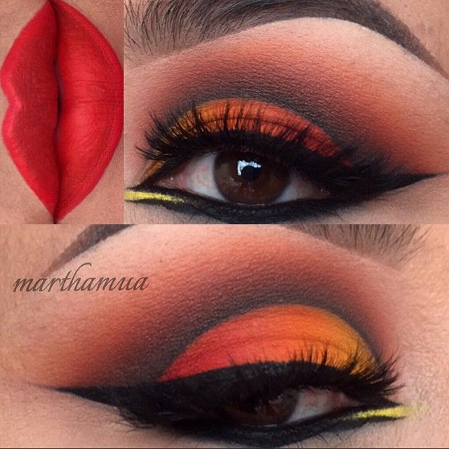 Sunset inspired makeup