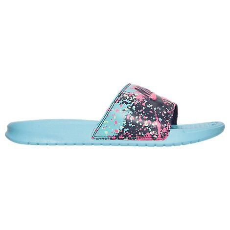 Women's Nike Benassi JDI Print Slide Sandals - 618919 618919-402| Finish  Line