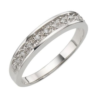 9ct White Gold Pave Set Diamond Eternity Ring | Engagement ...