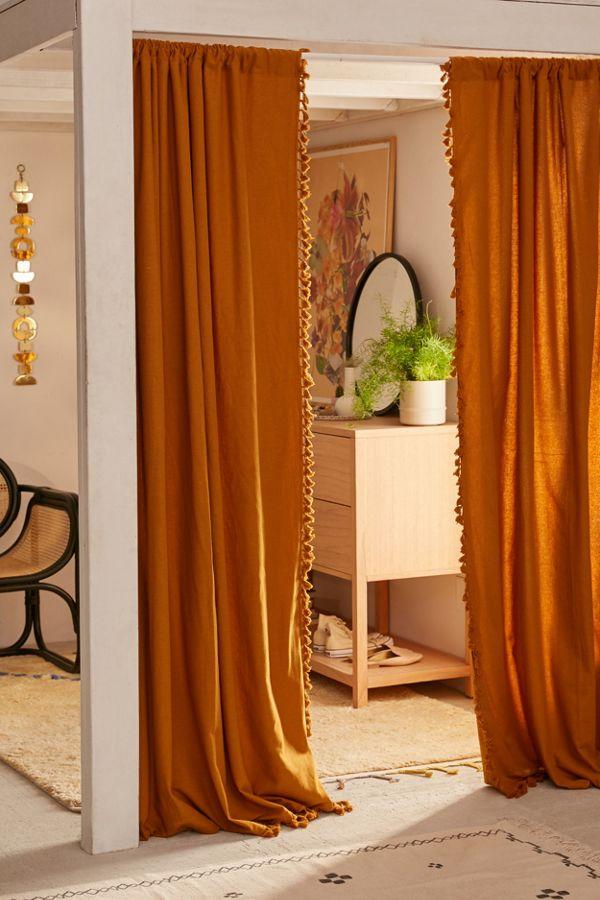 String Curtain Fringe Panel Decoration Room Divider 20: Palma Fringe Light Blocking Window Curtain In 2020