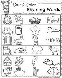 Spring Kindergarten Worksheets   Kindergarten worksheets, Rhyming ...
