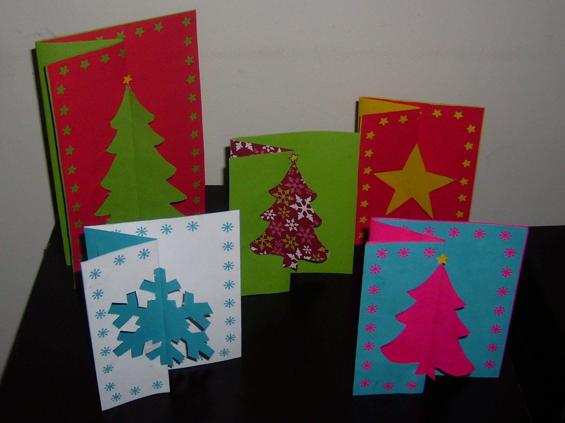Como hacer una una tarjeta navide a original bonita y - Como hacer tarjetas de navidad faciles ...