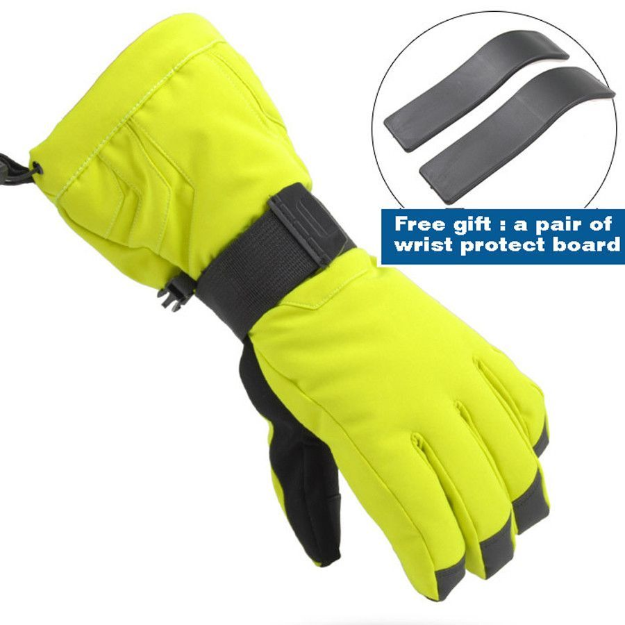 Mens ski gloves xl - Professional Ski Gloves Waterproof Gloves Warm Windproof Cycling Gloves Women Men For Snowboarding Skiing Size S