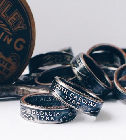Custom State Quarter Ring | These rings showcase state quarters in a unique way — which is... | Rings