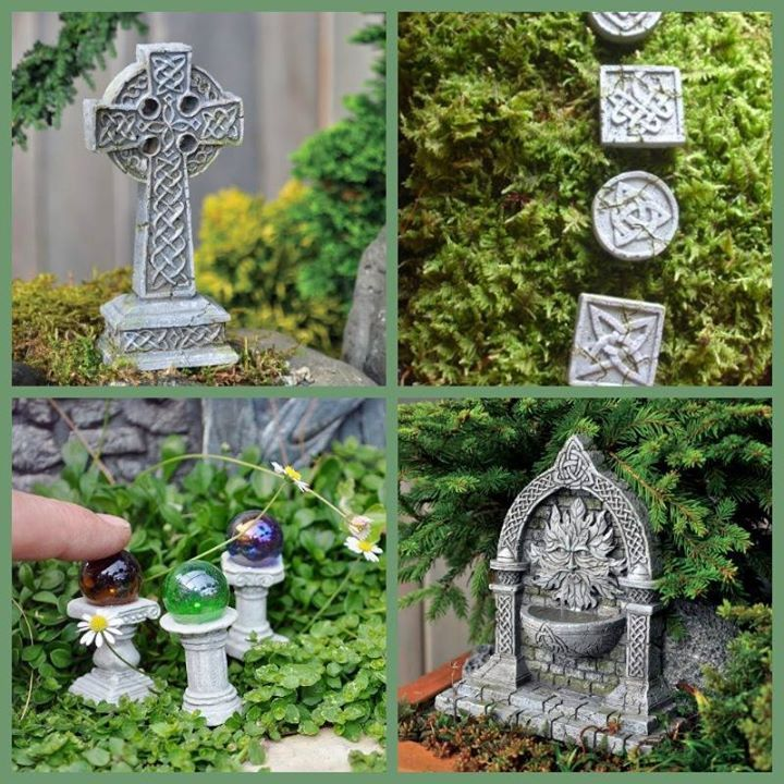 ~Fairy size Celtic cross: http://amzn.to/1jtkd7H ~Green Man Celtic fountain: http://amzn.to/1irGPG7 ~Fairy Celtic stepping stones: http://amzn.to/1k2h1oi  ~Fairy globes http://amzn.to/1pj43pd (Wild Eyed Southern Celt on Facebook)