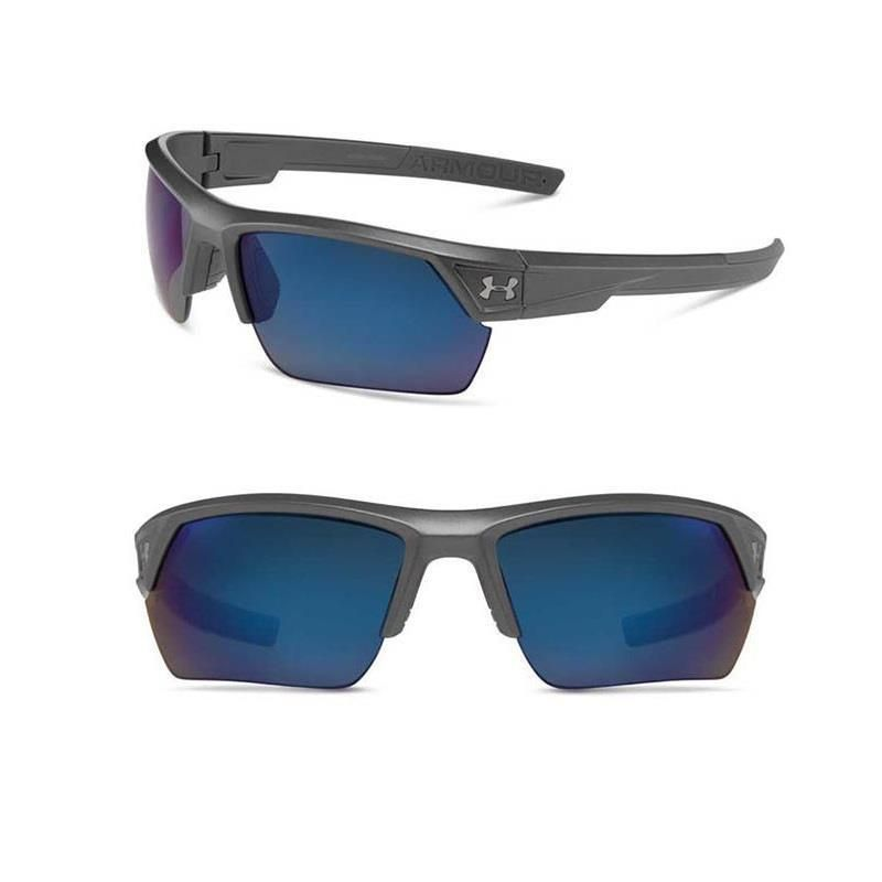 2e83ffacdd5ea Under Armour Polarized Sunglasses UA Igniter 2.0 Storm Men s Carbon w  Blue  Lens  UnderArmour  Sport