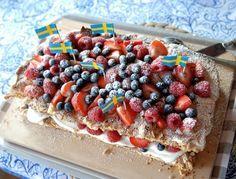 sommartårta med maräng