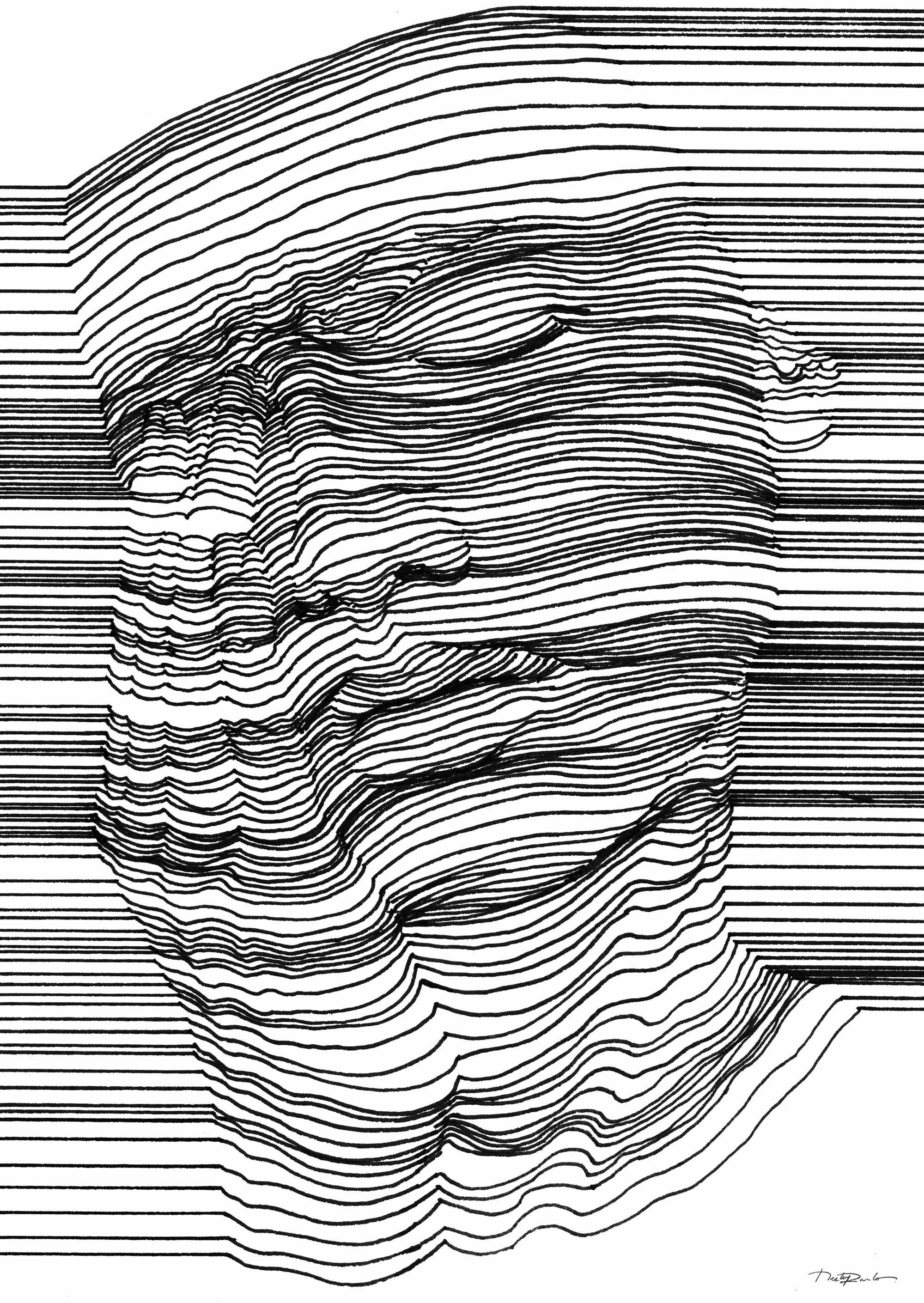 3d Line Drawing : Sensual d line art by nester formentera