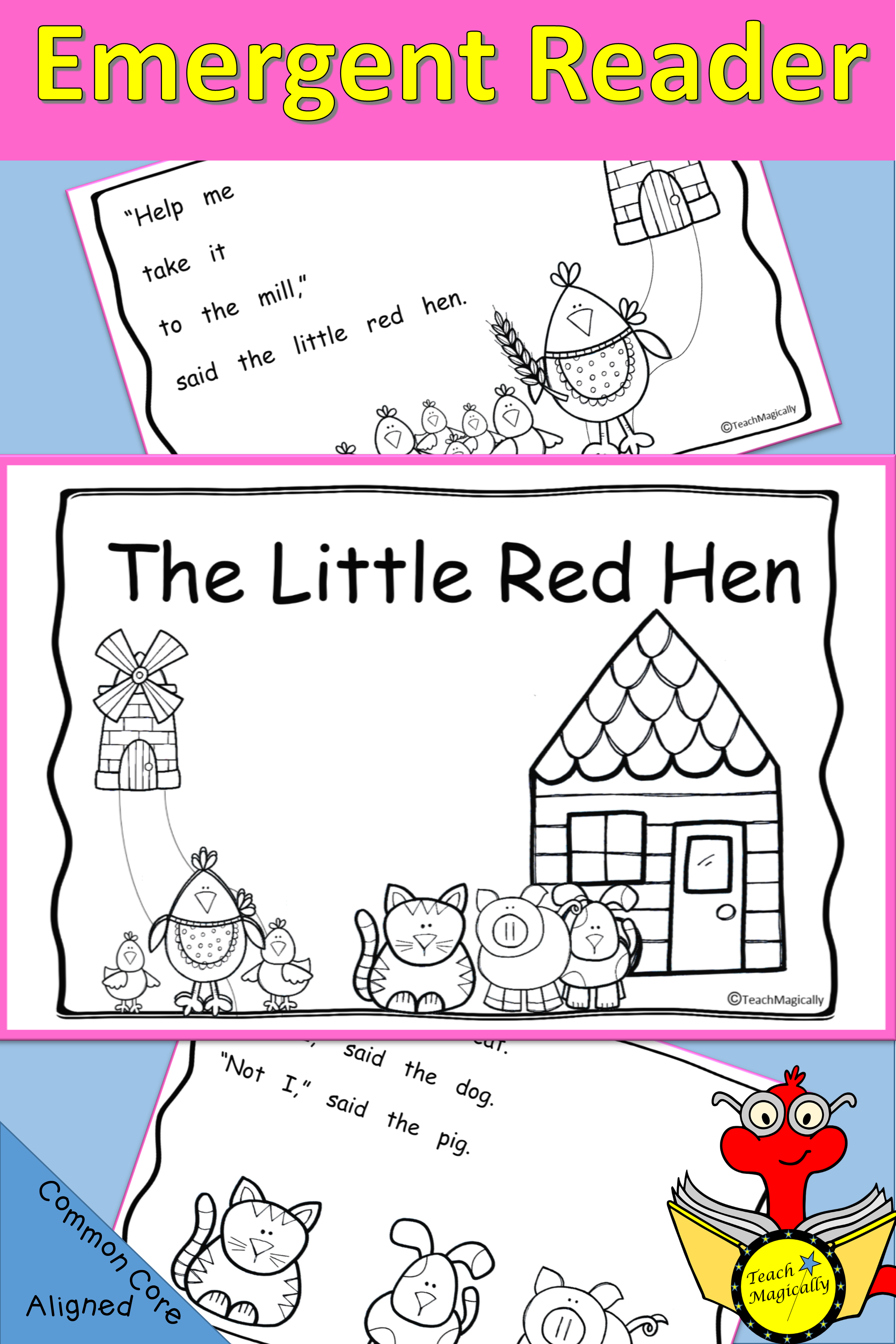 - Emergent Reader Book The Little Red Hen Folktale Kindergarten