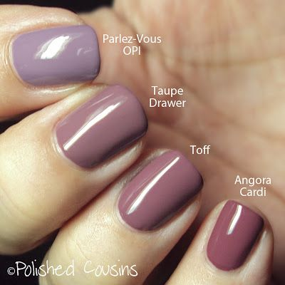 Purple Comparisons Mauve Nails Trendy Nails Nail Colors