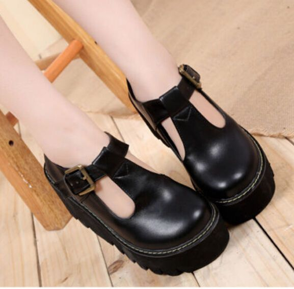 40393316ee Lolita Womens Oxfords Wedge Heels Creeper Platform Retro T-Strap Goth Punk  Shoes in Clothing, Shoes & Accessories,Women's Shoes,Flats & Oxfords   eBay