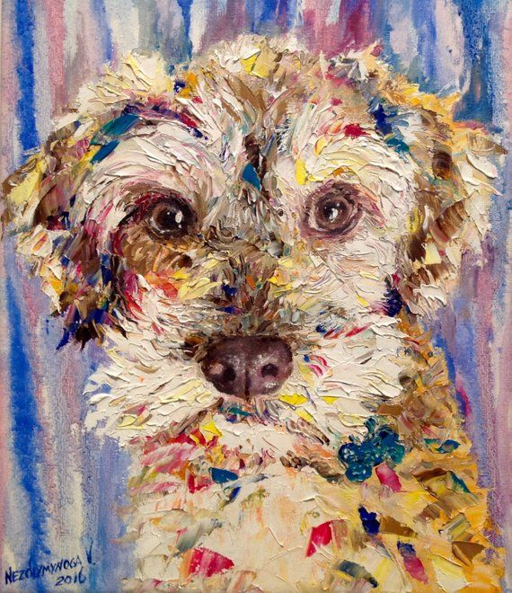 Dog Painting Custom Portrait From Photo Dog Art Canvas