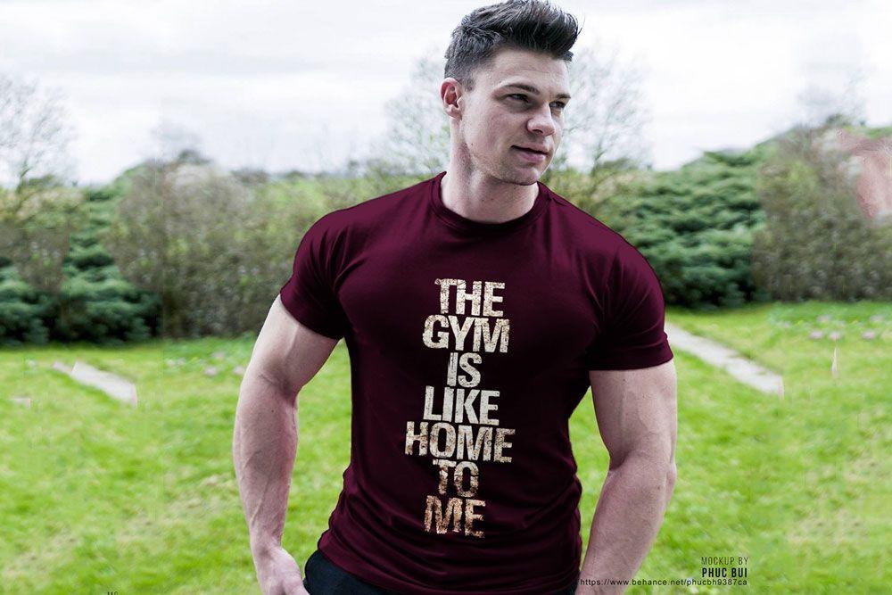 Download Free Gym Shirt Mockup Gym Shirt Mockup Fitness Tshirt Gym Shirts Shirt Mockup Mens Tshirts