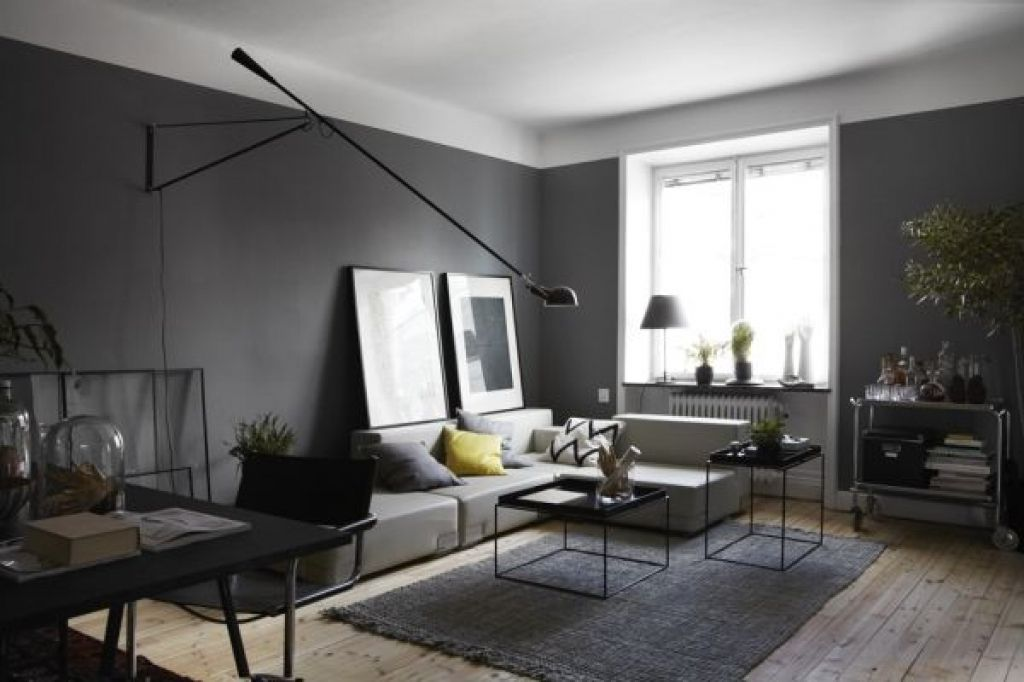 modernes wohnzimmer grau wohnzimmer wandfarbe modern and. Black Bedroom Furniture Sets. Home Design Ideas