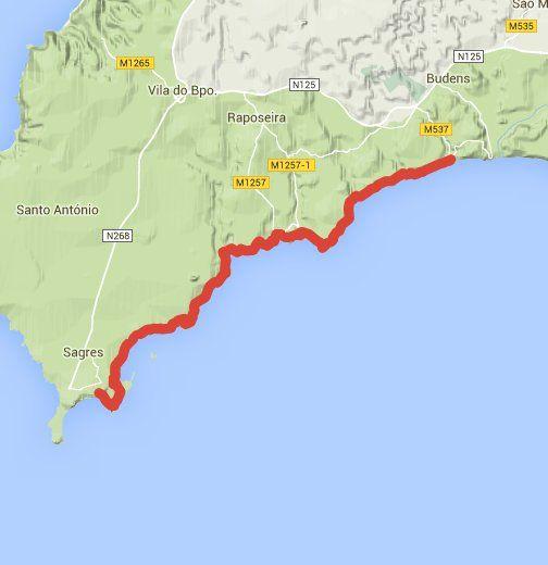Salema To Sagres Coastal Path Faro Portugal Travel Pinterest - Portugal map sagres