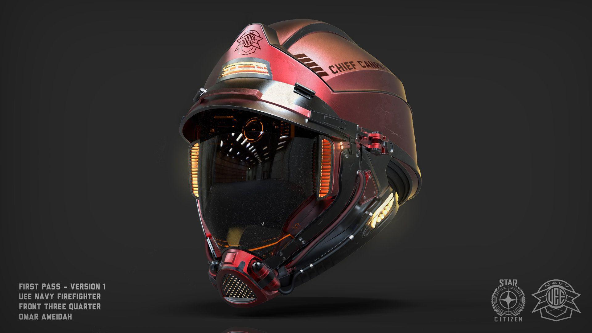 Fi fireman tattoo designs - Artstation Uee Navy Fireman Helmet Concept Omar Aweidah