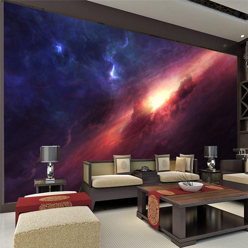 3d Charming Galaxy Wallpaper Room Decor Fantasy Photo Wallpaper Large Wall Mural Poster Wall Art Bedroom Sof Bedroom Decor Design Rooms To Go Wallpaper Bedroom