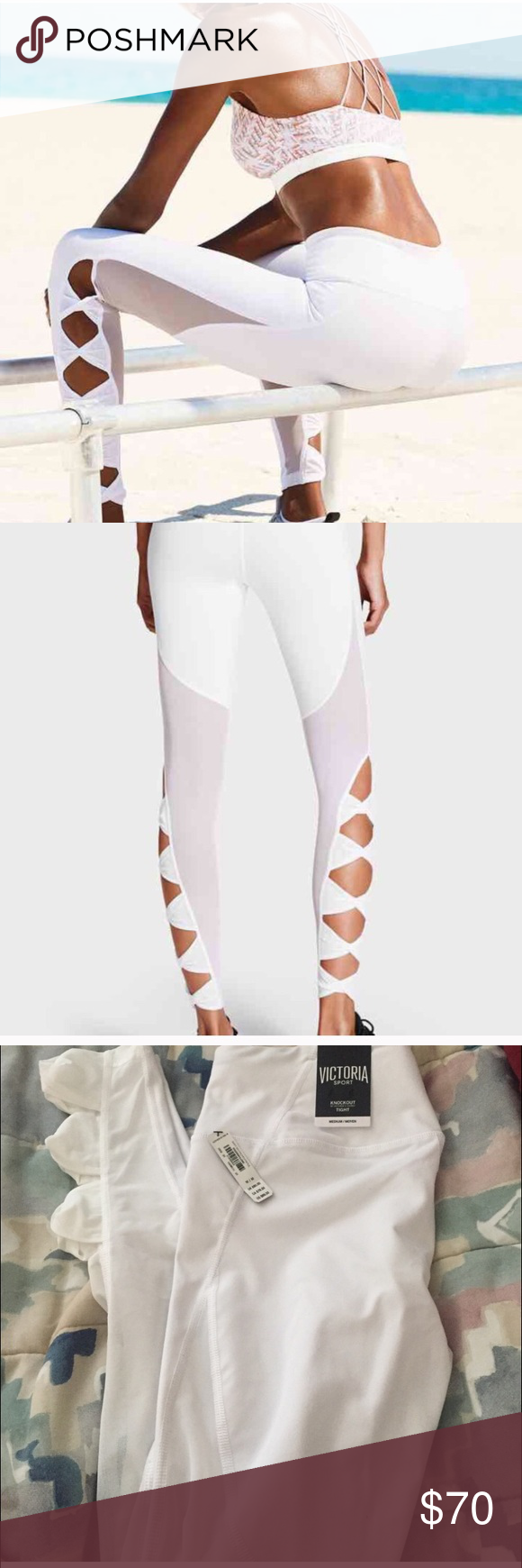bf241fea744784 Victoria's Secret knockout mesh tie knot leggings Size medium. BNWT brand  new with tags Victoria