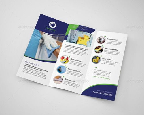 Cleaning Company Brochure Template  Des Have Industrial Look