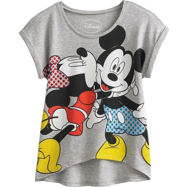 Disney Mickey Mouse Friends Minnie Mouse Hi-Low Tee Girls 7-16 ($14) ❤ liked on Polyvore featuring kids