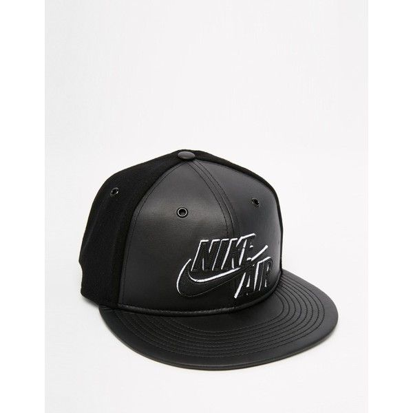 official photos 2edce d4e6f ... order nike air snapback cap in leather wool 708895 010 48 liked on  75d66 b3974