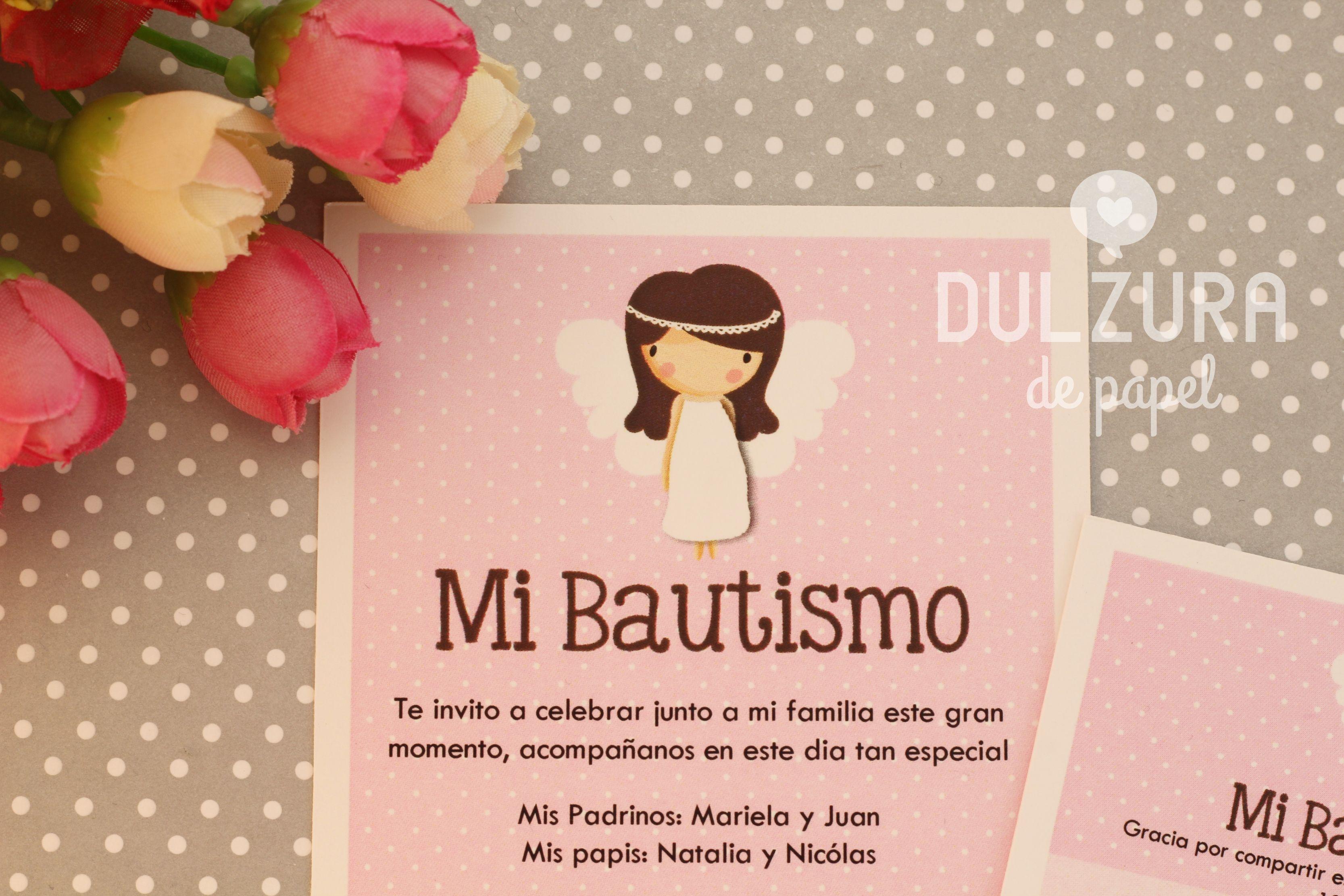 Invitación Bautismo Nena Santitos Bautizo Bautismo Y