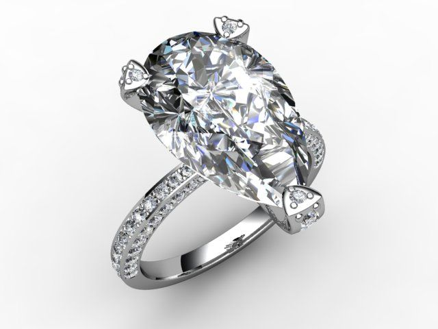 Diamondgeezer Have Recreated Holly Valance S Ring With A Large Pear Shaped Diamond