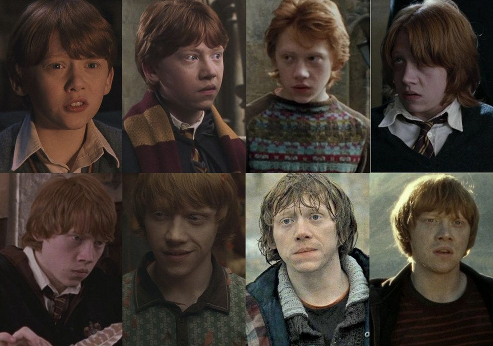 "Ron Weasley (Rupert Grint) | Here's How Much The ""Harry Potter"" Cast Changed Throughout The Series"