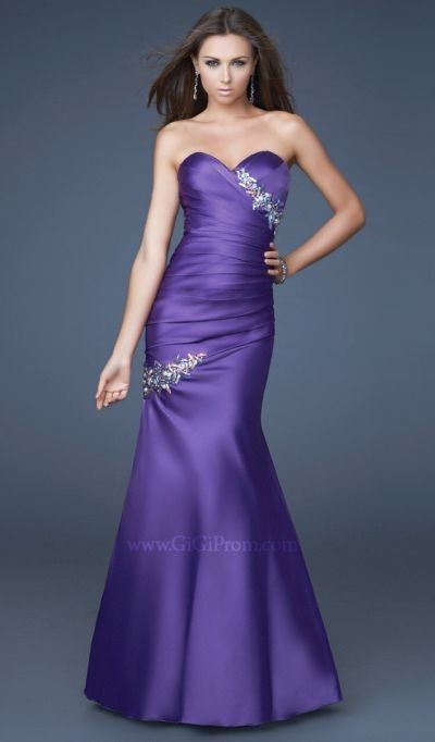 Trumpet/Mermaid Sweetheart Floor Length Satin Prom Dress - Prom Dresses - Special Occasion Dresses