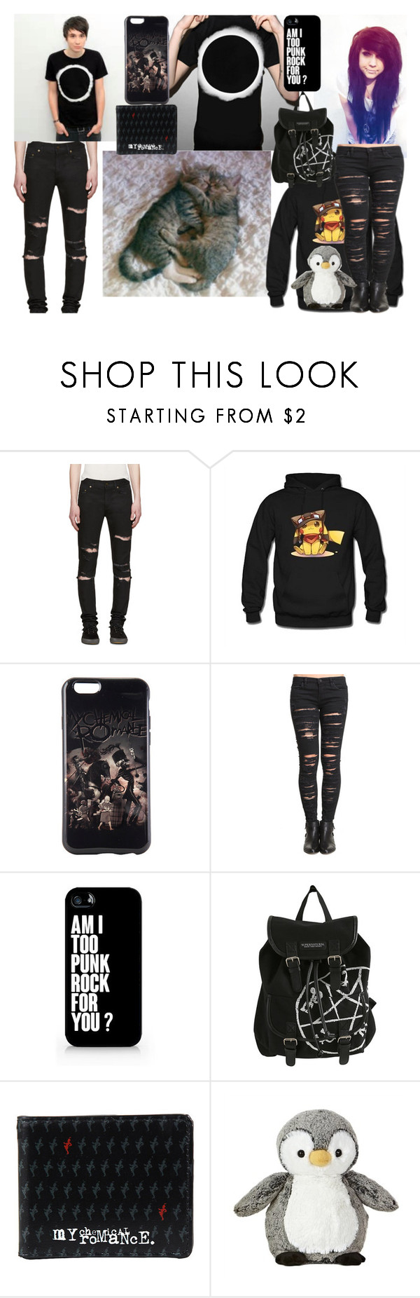 """Going to hang with Dan. I brought my penguin...-Stephanie        Going to hang with Steph. I hope she has fun.-Dan"" by michael-cliffords-girl-0302 ❤ liked on Polyvore featuring Yves Saint Laurent, New Love Club, BLANKNYC and Samsung"