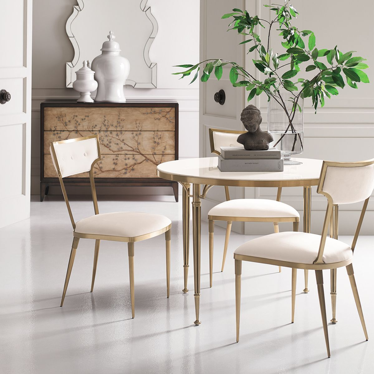 The Delicate Stature Of My Hewitt Gold Dining Chair Makes For A Chic  Interior Aesthetic Indeed