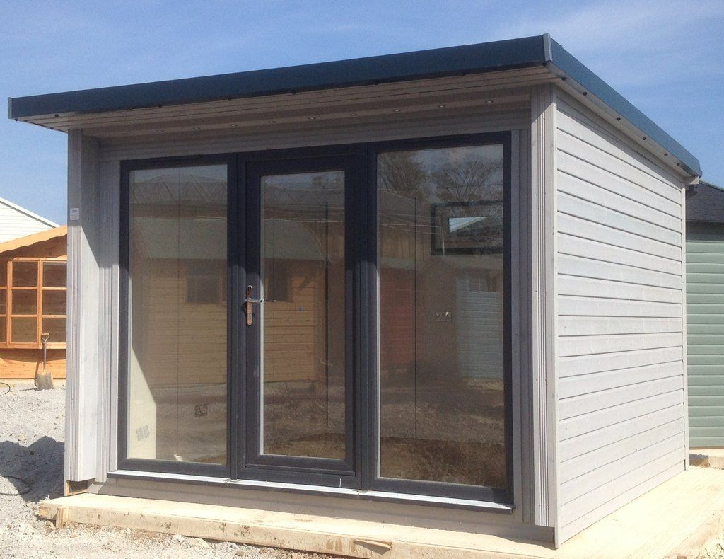 office garden pod australia 30m garden pod office grey anthracite upvc windows and doors rollaclad metal roof