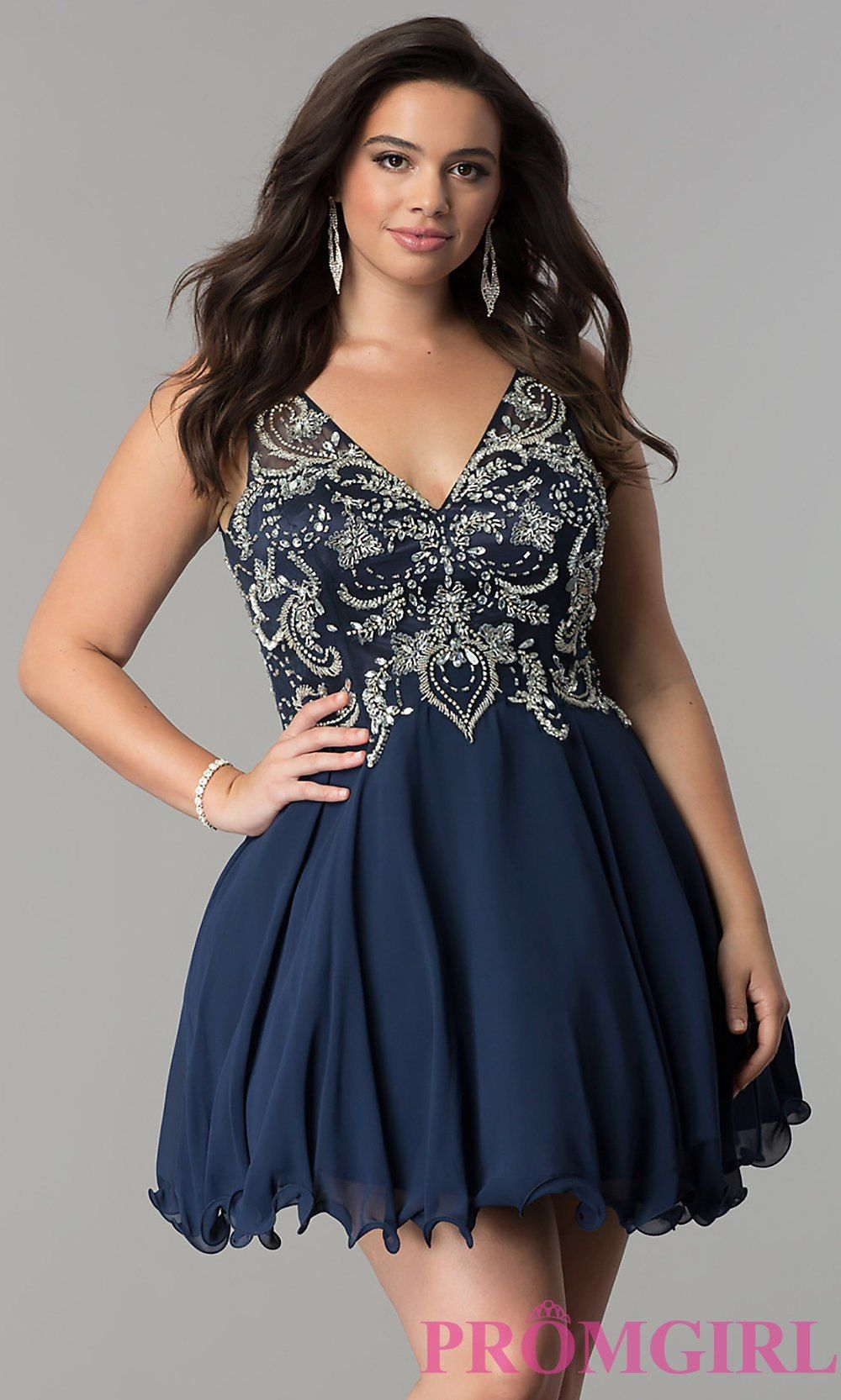 Aline short plussize homecoming dress promgirl riley ticotin