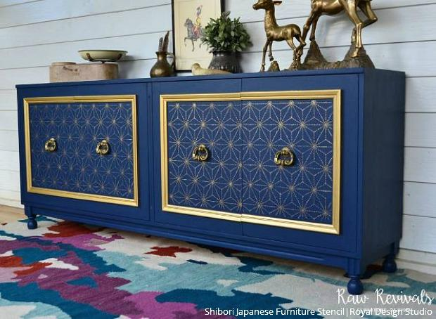Stencil Your Decor Become An Insta Inspiration Stencil Furniture Patterned Furniture Japanese Furniture