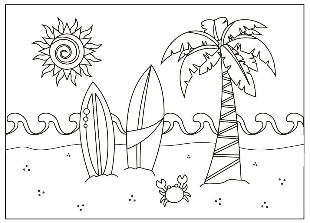Pin by Coloring Fun on Beach/ Summer | Summer coloring ...
