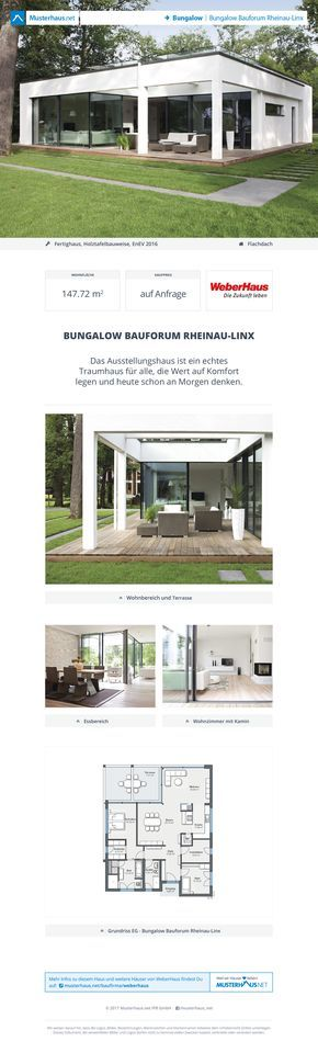 Weber Haus Linx bungalow bauforum rheinau-linx · weber-haus · jetzt bei #musterhaus