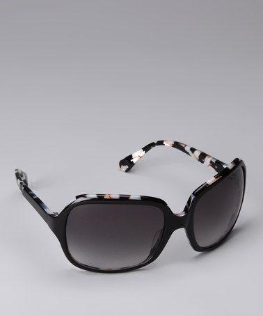 Another great find on #zulily! Black & White Sunglasses by Diane von Furstenberg #zulilyfinds