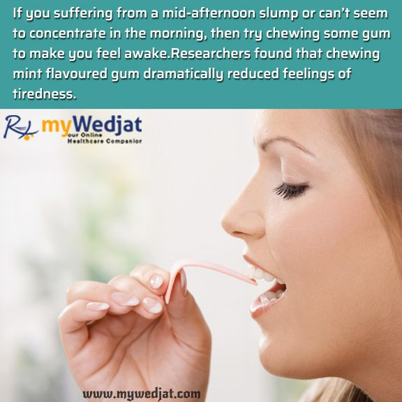 Can Chewing Gum Help You Stay Awake? #WedjatHealthFacts